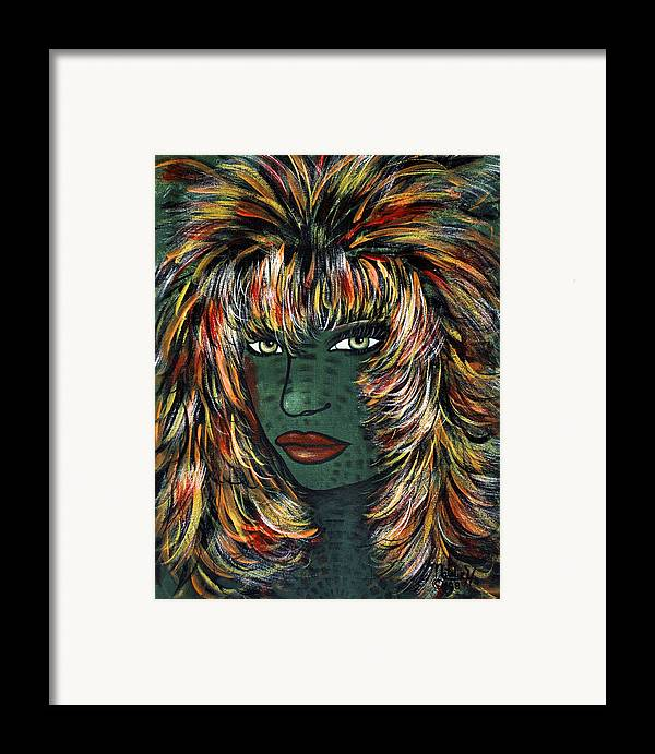 Woman Framed Print featuring the painting Tattoo by Natalie Holland
