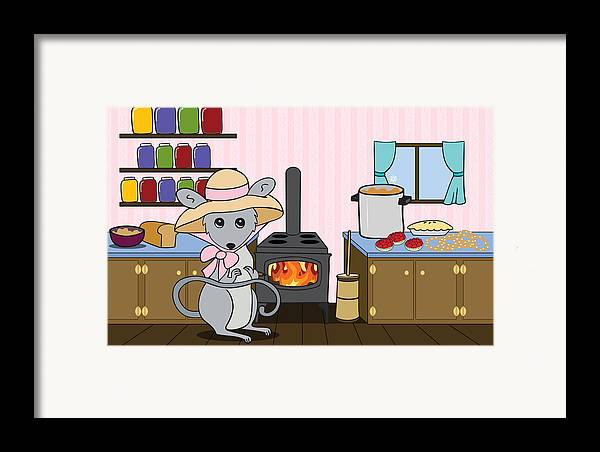 Kitchen Framed Print featuring the digital art Tatty's Kitchen by Christy Beckwith