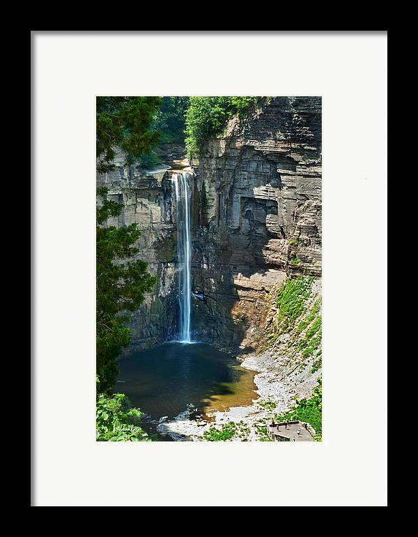New York Framed Print featuring the photograph Taughannock Falls by Christina Rollo
