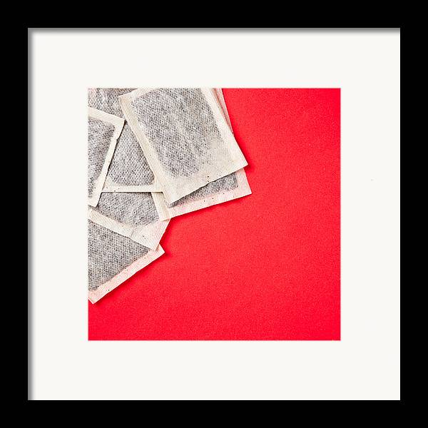 Anti-oxidant Framed Print featuring the photograph Tea Bags by Tom Gowanlock