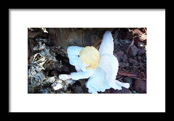 Fairy Framed Print featuring the photograph Relaxing At Home by Sharon Ackley