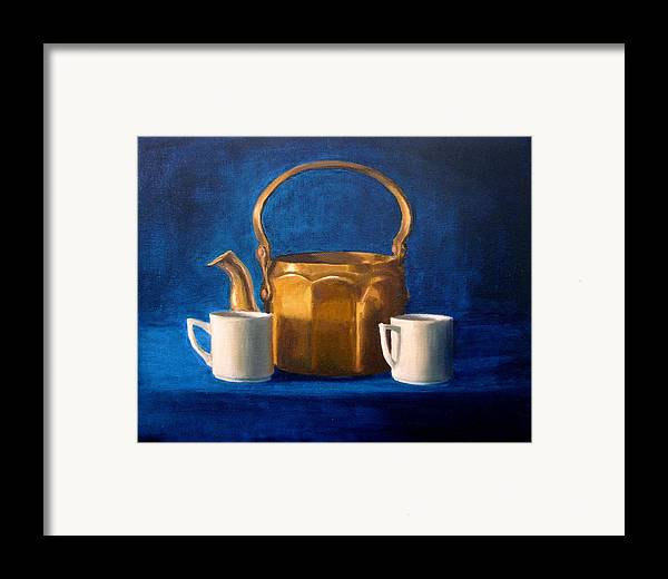 Tea Framed Print featuring the painting Tea Time by Janet King