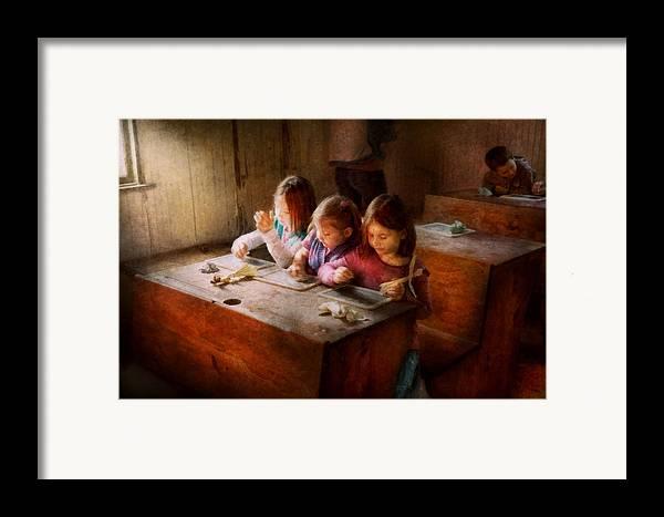 Teacher Framed Print featuring the photograph Teacher - Classroom - Education Can Be Fun by Mike Savad