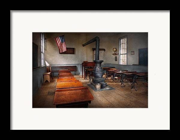 Teacher Framed Print featuring the photograph Teacher - First Day Of School by Mike Savad