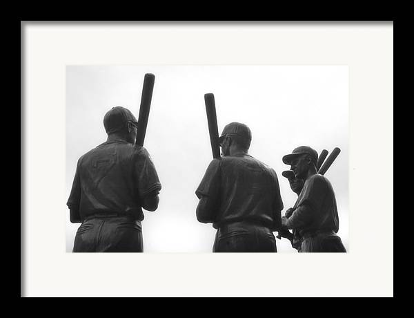 Bobby Doerr Framed Print featuring the photograph Teammates by Joann Vitali