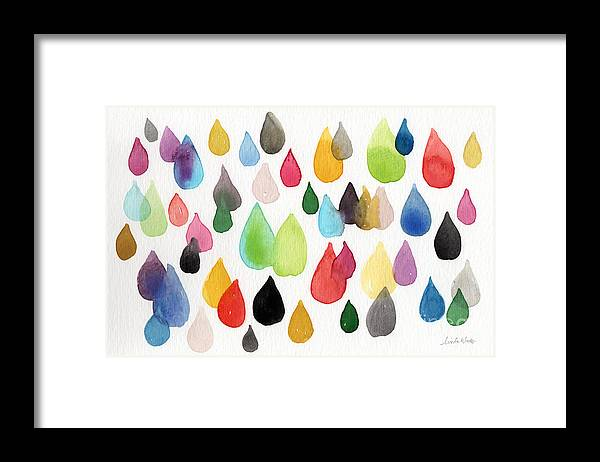 Drops Framed Print featuring the painting Tears Of An Artist by Linda Woods
