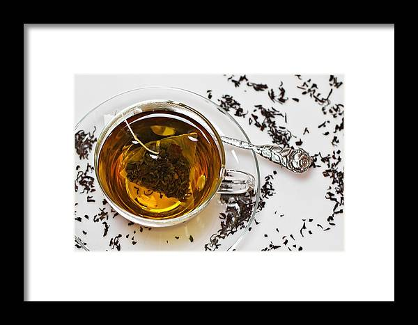Tea Framed Print featuring the photograph Teatime by Sandy Roesch