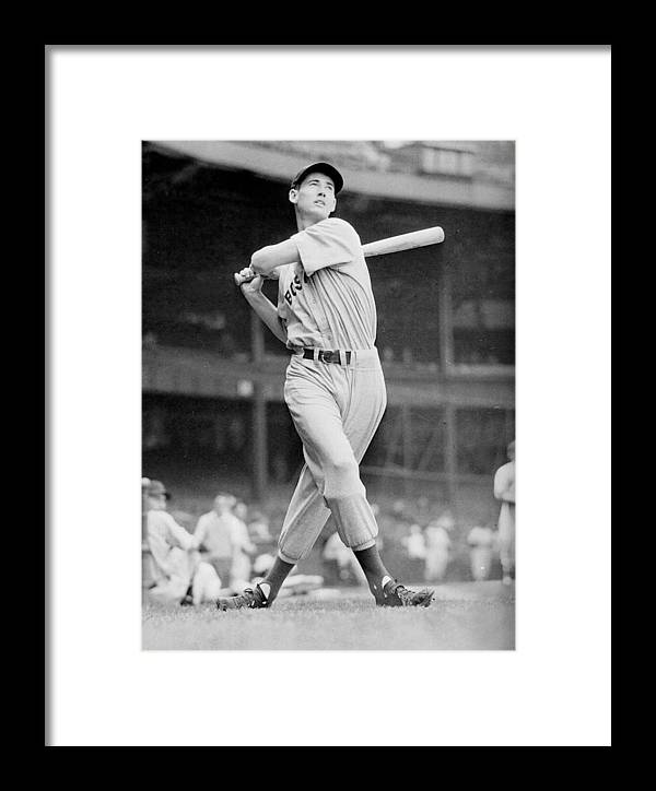 Ted Williams Swing Framed Print