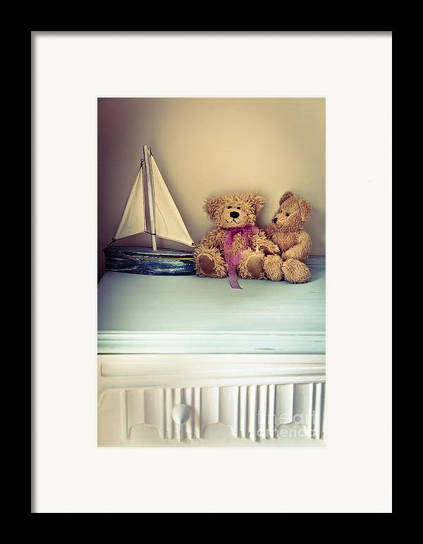 Chest Of Drawers Framed Print featuring the photograph Teddy Bears by Jan Bickerton
