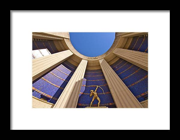 Hall Of State Framed Print featuring the photograph Tejas Indian by John Babis