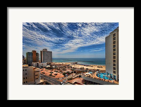 Israel Framed Print featuring the photograph Tel Aviv Summer Time by Ron Shoshani
