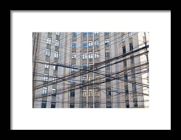 Electrical Framed Print featuring the photograph Telephone And Electrical Lines by Jim Pruitt