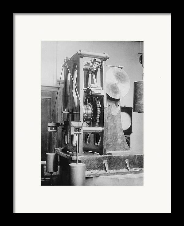 Equipment Framed Print featuring the photograph Telescope Clock, Sydney Observatory by Science Photo Library