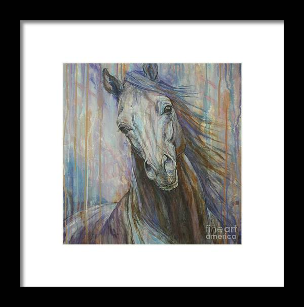 ac12f81322e Horse Framed Print featuring the painting Tempest by Silvana Gabudean Dobre