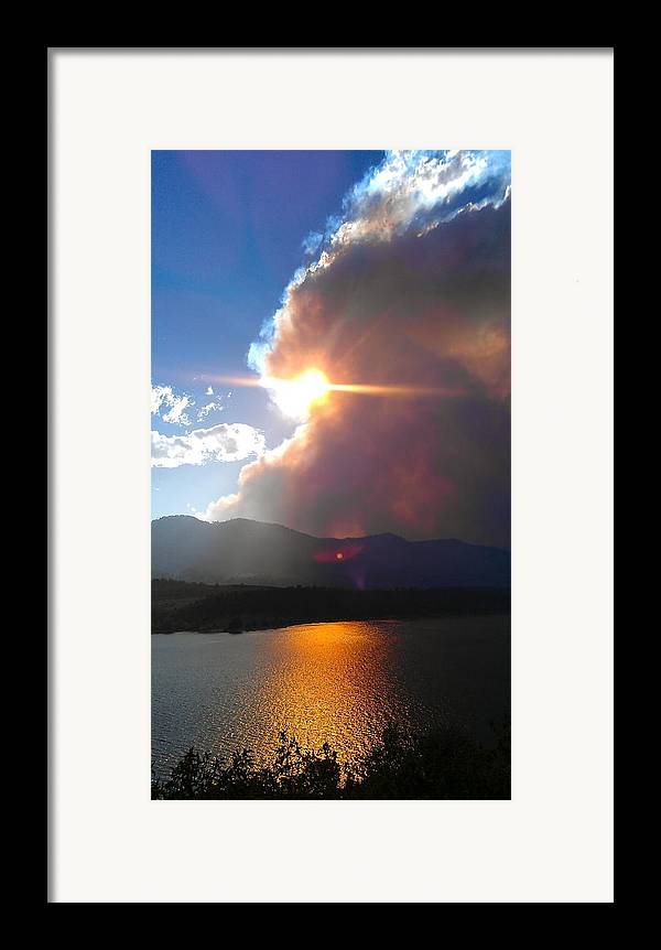 Lake Framed Print featuring the photograph Tempestuous. by Leslizabeth O