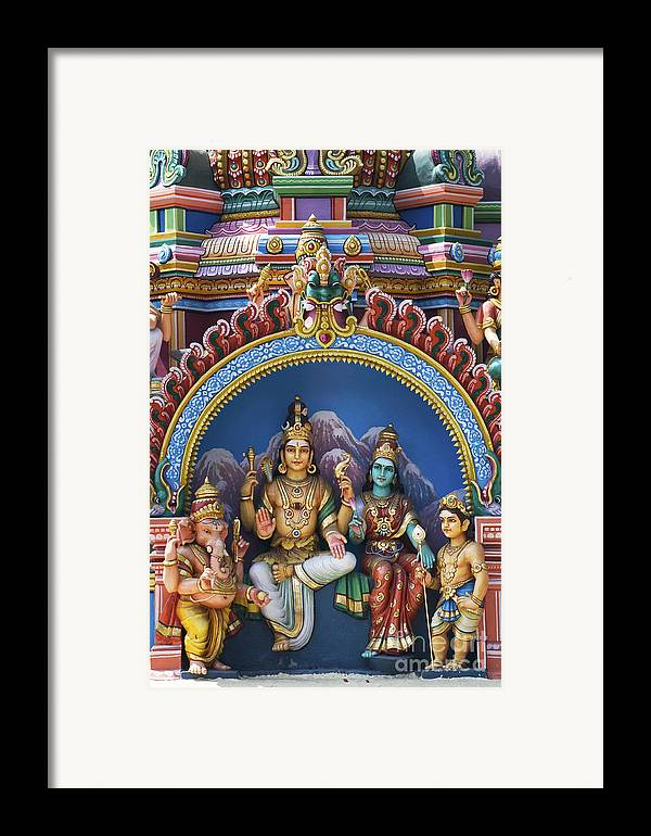 Shiva Framed Print featuring the photograph Temple Deity Statues India by Tim Gainey
