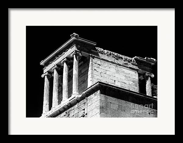 Temple Of Athena Nike Framed Print featuring the photograph Temple Of Athena Nike by John Rizzuto