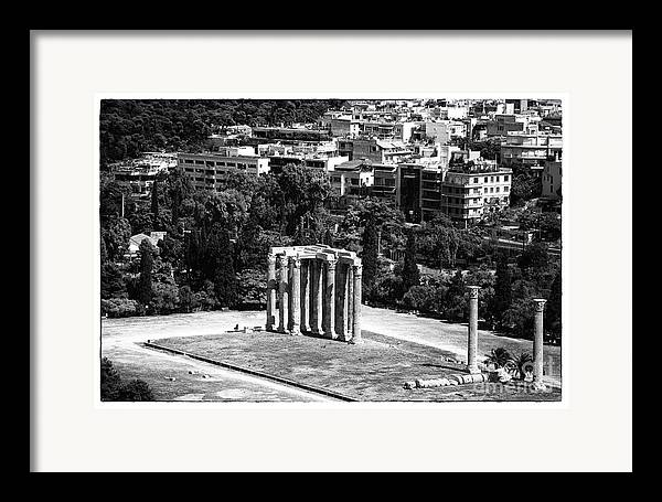 Temple Of Zeus Framed Print featuring the photograph Temple Of Zeus II by John Rizzuto