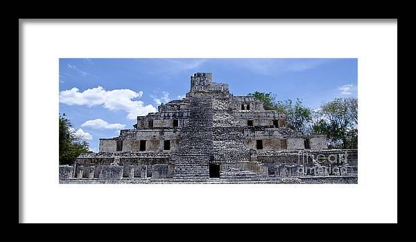 Temple Edzna Framed Print featuring the photograph Templo De Edzna by Agus Aldalur