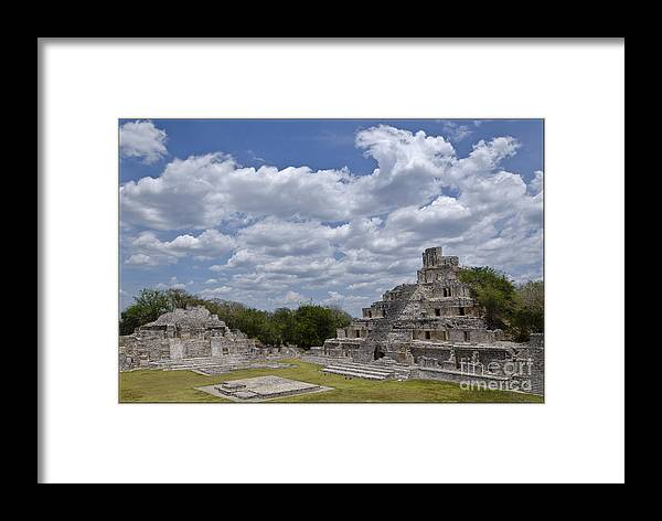 Edzna Temple Framed Print featuring the photograph Templo Edzna by Agus Aldalur