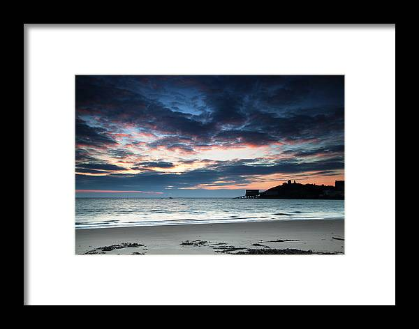 Tenby Framed Print featuring the photograph Tenby At Dawn by Simon West