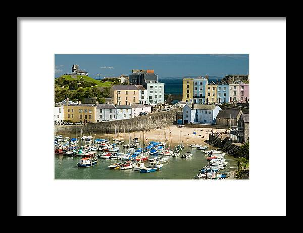 Tenby Framed Print featuring the photograph Tenby Harbour by Jeremy Voisey