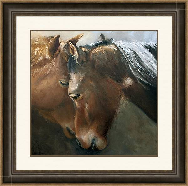 Equestrian Art Framed Print featuring the painting Tenderness by Terri Meyer