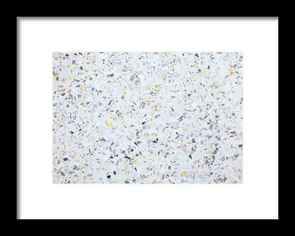 Terrazzo Flooring Texture Polished Stone Pattern Wall And Color Old Surface Marble For Background Image Horizontal Framed Print