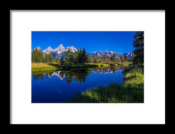 Teton Reflection Framed Print featuring the photograph Teton Reflection by Chad Dutson