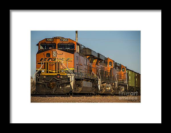 Bnsf Framed Print featuring the photograph Texas Freight by Rob Hawkins