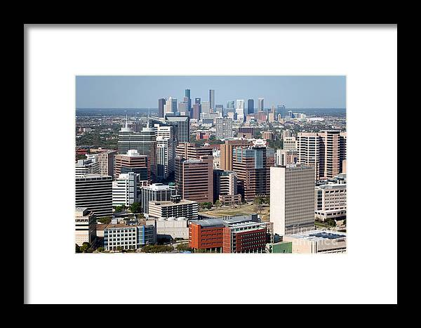 Houston Framed Print featuring the photograph Texas Medical Center In Houston by Bill Cobb