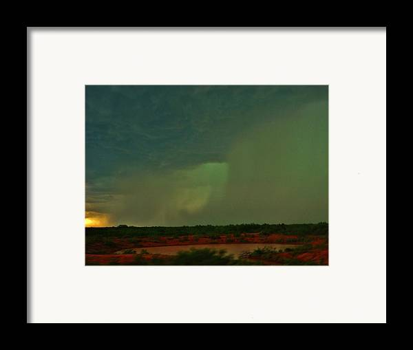 Texas Framed Print featuring the photograph Texas Microburst by Ed Sweeney