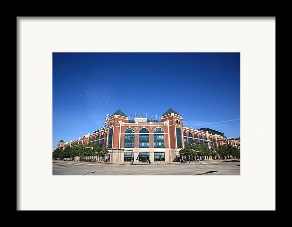 America Framed Print featuring the photograph Texas Rangers Ballpark In Arlington by Frank Romeo