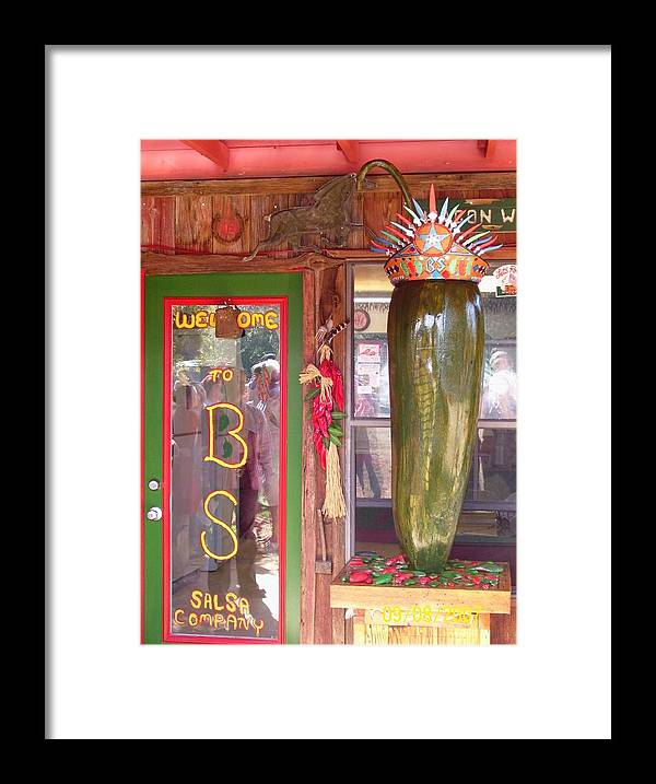 Business Framed Print featuring the sculpture Texas Size Chili Pepper by Michael Pasko