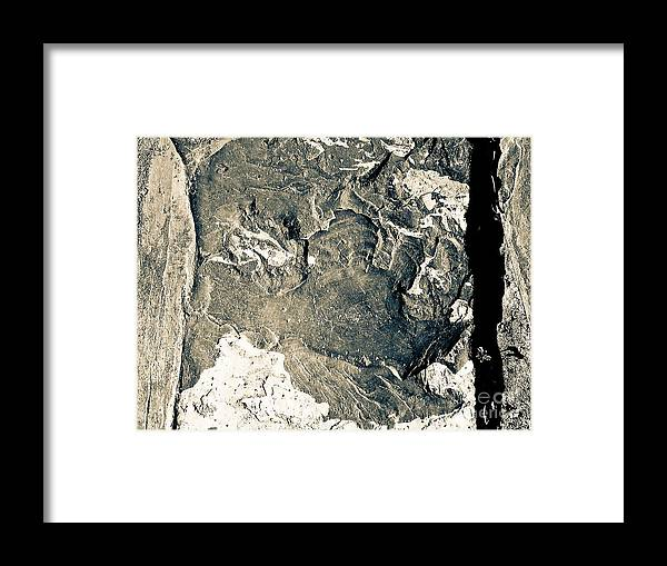 Abstract Framed Print featuring the photograph Texture No. 2 Effect 1 by Fei A