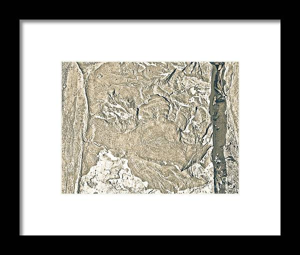 Abstract Framed Print featuring the photograph Texture No.2 Effect 2 by Fei A