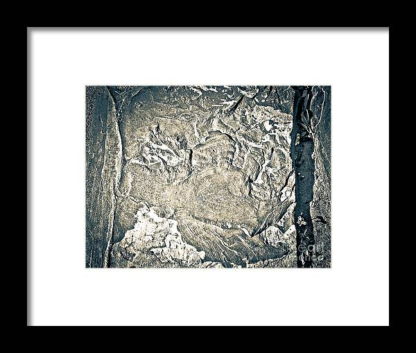Abstract Framed Print featuring the photograph Texture No.2 Effect 3 by Fei A