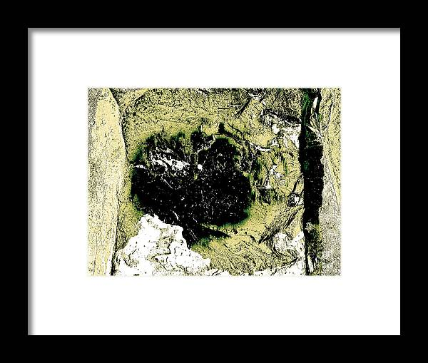 Abstract Framed Print featuring the photograph Texture No.2 Effect 7 by Fei A