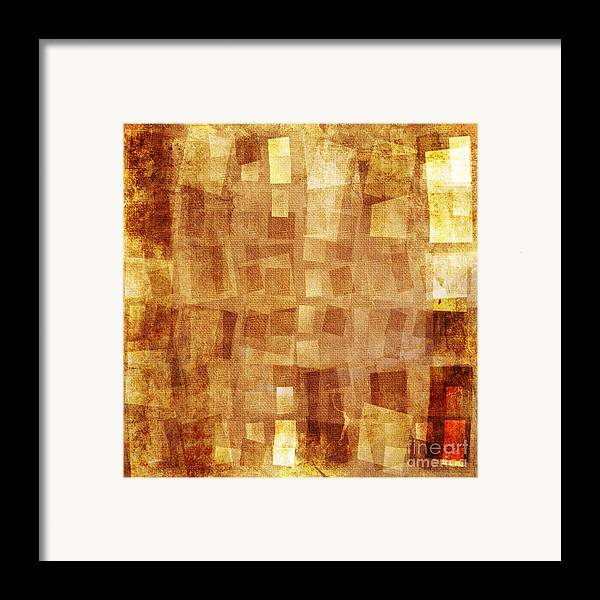 Textile Framed Print featuring the digital art Textured Background by Jelena Jovanovic