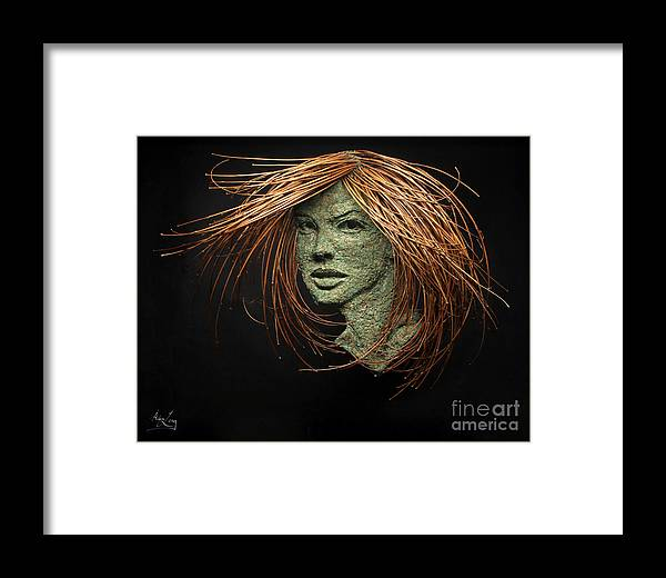 Art Framed Print featuring the mixed media Thalia Of The Three Graces by Adam Long