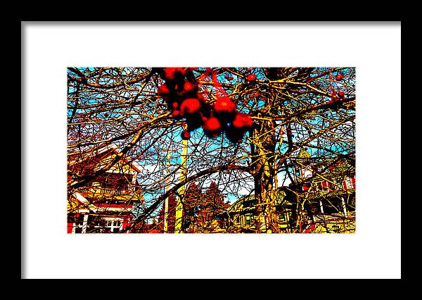 Berries Framed Print featuring the digital art Thank You Berry Much by Josie Boyce