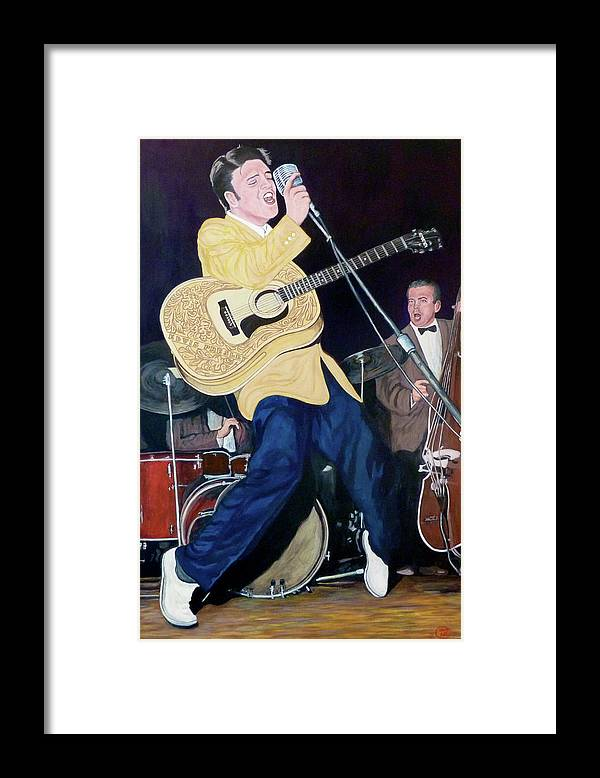 Elvis Presley Framed Print featuring the painting Thank You Very Much by Tom Roderick