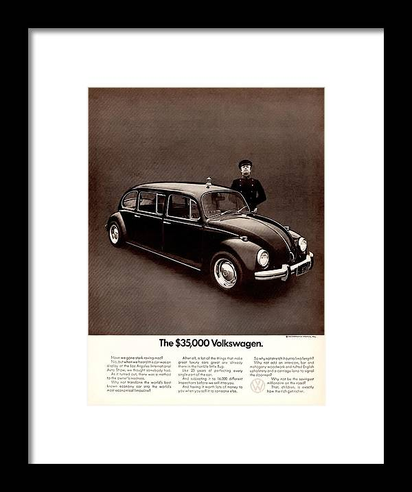 The $35 Framed Print featuring the digital art The 35000 Volkswagen by Georgia Fowler