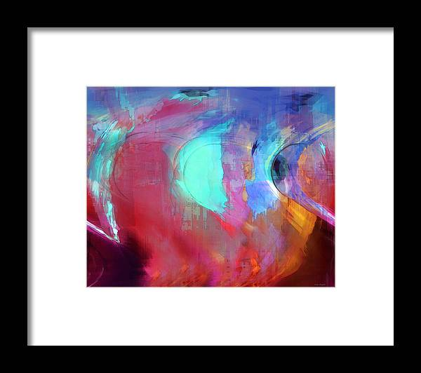 Abstract Framed Print featuring the digital art The Afterglow by Linda Sannuti