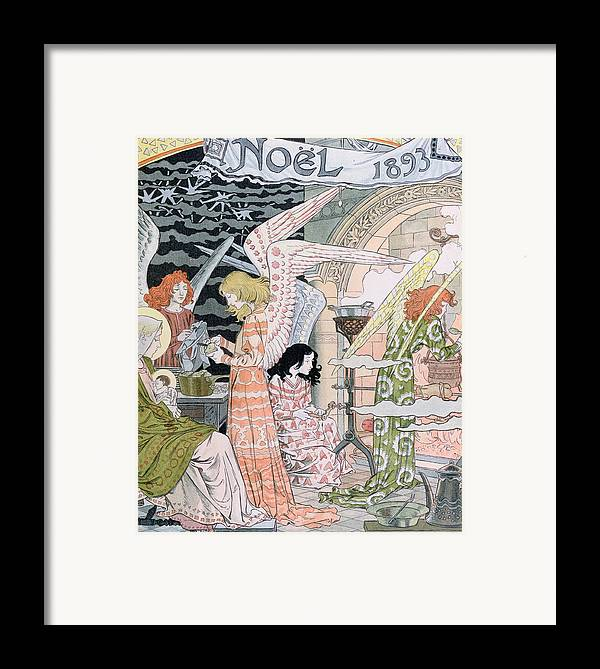 Angels Framed Print featuring the painting The Angels Kitchen by Eugene Grasset