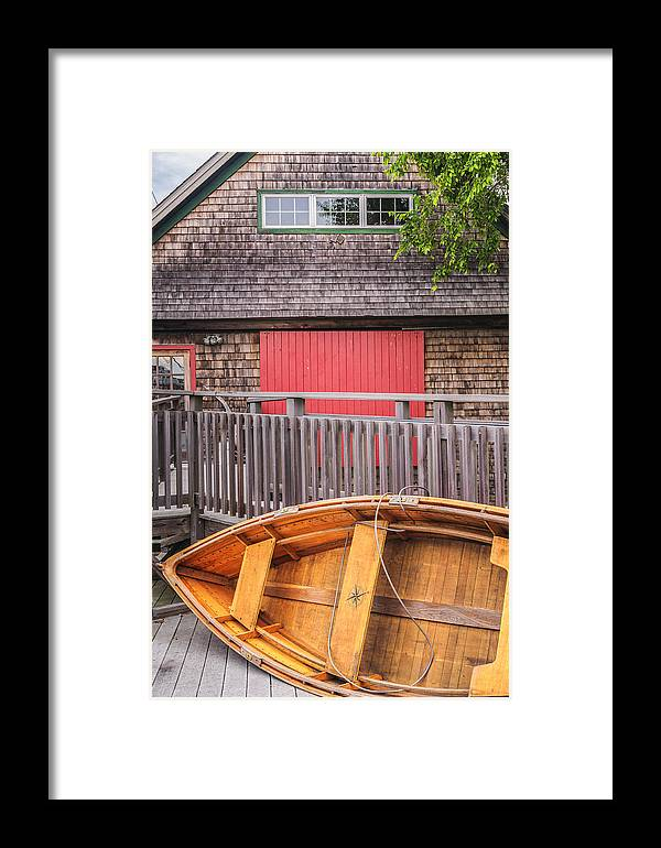 America Framed Print featuring the photograph The Apprentice Shop Rockland Maine by Marianne Campolongo