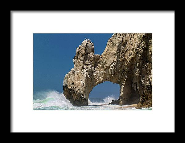 Scenics Framed Print featuring the photograph The Arch Of Los Cabos San Lucas by Marc Javelly