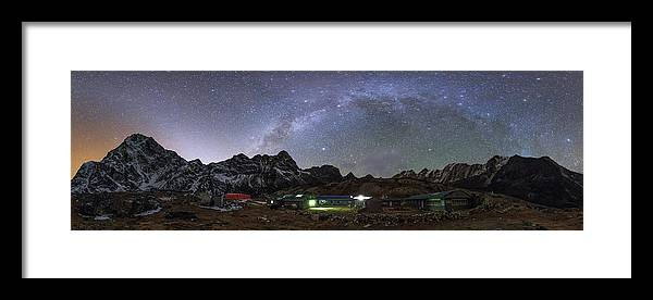 Horizontal Framed Print featuring the photograph The Arch Of The Milky Way Galaxy by Jeff Dai