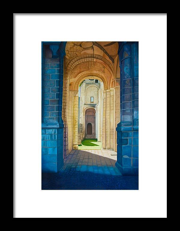 Architecture Framed Print featuring the painting The Arches Of The Abbey At Jumieges by Stephen Degan