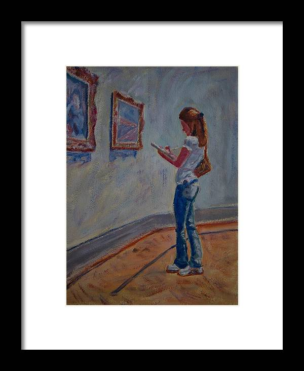 Oil Framed Print featuring the painting The Art Student by Horacio Prada